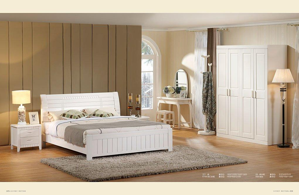 Professional Best Wooden Beds White Solid Wood Bed Manufacture